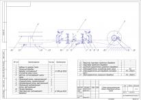 Схема принципиальная линии раскроя троса