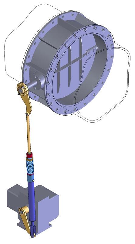Клапан дроссельный с тягой