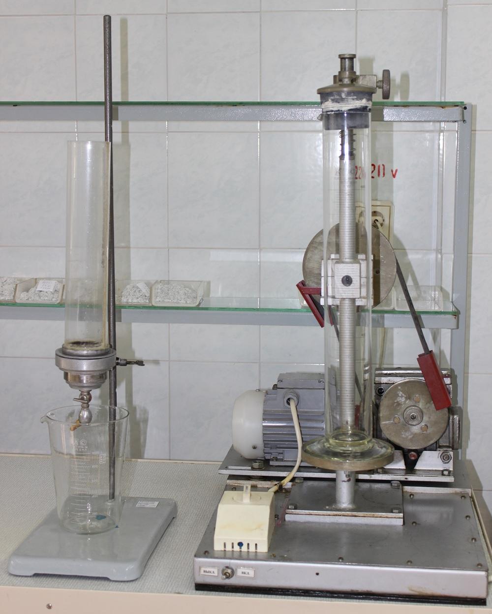 Установка для определения времени фильтрации хризотиловой суспензии