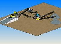 Дробильно - сортировочная линия для получения щебня (с возвратом на додрабливание)