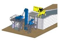 Дробильно - сортировочная установка для получения щебня (с опорной стенкой)